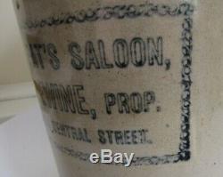 Stoneware Advertising Saloon Jug C 1890 Knoxville, Tenn