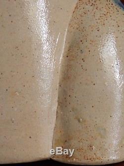 Stoneware Chicken Waterer / Poultry Fountain, Ink Decorated, Salt Glaze