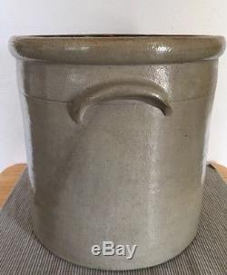 Stoneware Crock -# 3 Stenciled E. S. & B new Brighton Pa Antique