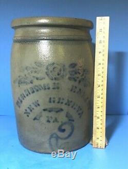 Stoneware Jar, Dilliner & Eneix, New Geneva PA, Stencil Freehand #2 & Stripe