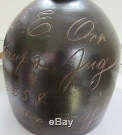 Stoneware Scratch Advertising Jug C 1890 Upstate New York Syrup