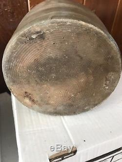 Superb Antique New England 1 1/2 Gal. Cobalt Beautiful Patina Stoneware Crock