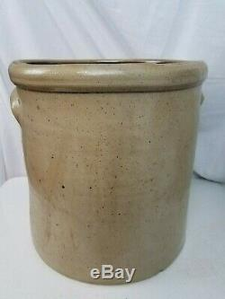 TENNESSEE POTTERY Co Illinois Stoneware Salt Glaze Crock 5 Gallon Rare 19th cent