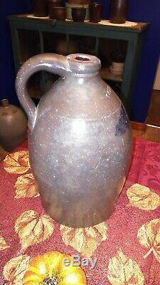 Thomas And Bro. Huntingdon PA Decorated Stoneware Jug