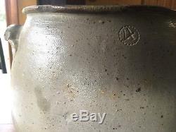 Upper Alton Illinois 4 Stoneware Salt Glazed Crock