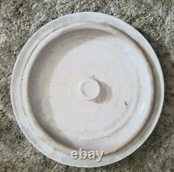 VTG 8 GALLON POTTERY STONEWARE CROCK Pot Lid Blue Crown USA Robinson Ransbottom