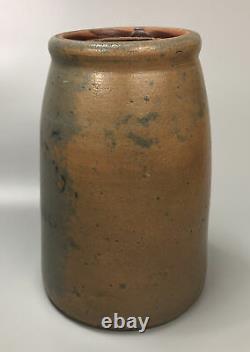 VTG Antique Hamilton & Jones Crock Greensboro PA Stoneware Jar Stenciled AA