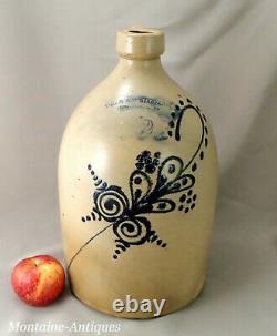 Vermont Blue decorated Stoneware jug