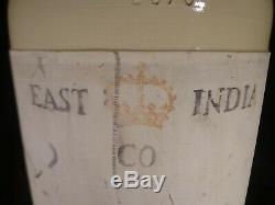 Vintage 1920 East India Co RUM Crock ORIGINAL METAL SPOUT Corona Stoneware RARE