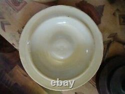 Vintage 2 Gallon Red Wing Union Stoneware Pottery Crock With 4Wing has Lid Nice