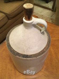 Vintage 5 Gallon Robinson Ransbottom Blue Crown Stoneware Pot Crock Whiskey USA