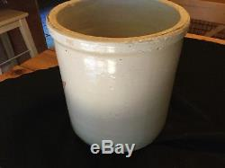Vintage Antique RED WING 2 Gallon Crock With Lid, Union Stoneware Pottery, Minn