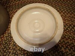 Vintage Antique Stoneware 10 Gallon Crock Large Overall 18 x 15 Beige Crown