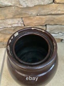 Vintage Donaghho Co Parkersburg Wv Redware Wax Sealer Crock Stoneware Pottery
