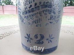 Vintage Hamilton & Jones Greensboro Pa Antique Stoneware Crock Saltglazed #2