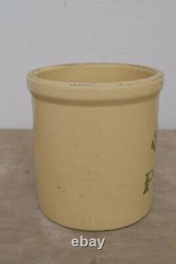 Vintage Homemade 1 Cent Pickles Stoneware Crock 1/2 gal USA As Seen on Friends