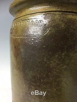 Vintage J Eberly & Bro Strasburg VA Crock Virginia Stoneware Shenandoah pottery