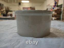 Vintage One Pound White Hall Stoneware Butter Crock Good Condition