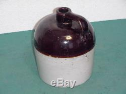Vintage Overland Rye Montana Liquor Co. Crock Stoneware Jug Butte Montana