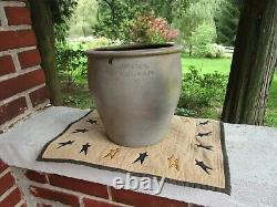 Vintage Rare Rabb & Rehm Bloomsburg Pa Stoneware Crock Antique Advertising