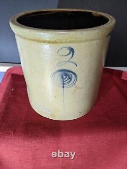 Vintage Red Wing 2 Gallon Salt Glaze Bullseye/Bee Sting Stoneware Crock