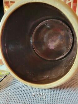 Vintage Red Wing 2 Gallon Salt Glaze Double P Stoneware Crock Bottom Marked