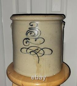 Vintage Red Wing 3 Gallon Bullseye/Bee Sting Stoneware Crock Antique unique