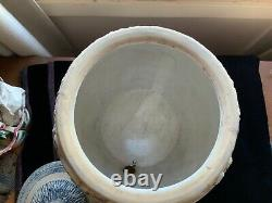 Vintage Whites Utica Ny Stoneware Ice Water Cooler Polar Bears 3 Gallon