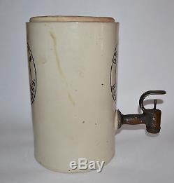 Vtg Antique 1890's Dr. Swett's Root Beer Soda Syrup Dispenser Stoneware Crock