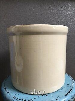 Vtg Antique Homemade 1c Pickles Crock FRIENDS Monica Gellar 2 Gallon Stoneware