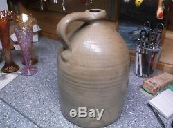 W. H. Farrar & co. Geddes N. Y. Stoneware bird crock jug SUPERB