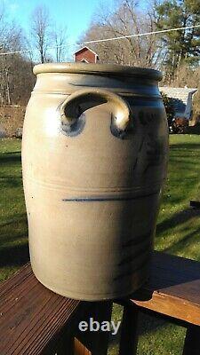 Western PA Decorated Stoneware Crock