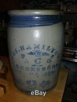 Western Pa James Hamilton Decorated Stoneware