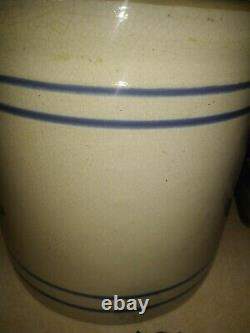 Western Stoneware COLD DRINK #4 4 Gallon Spigot original lid Clean RARE