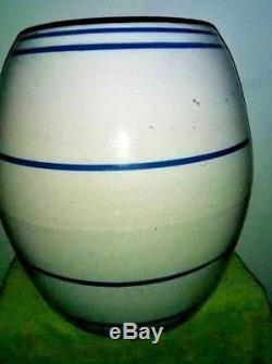 White Hall Stoneware Keg with Blue Bands Advertising National Pickle & Canning Co