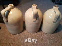 Wm Radams Microbe Killer Set Of 1 2 And 3 Stoneware crock Jugs